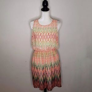 Paper Doll Colorful Sleeveless Dress